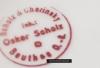 Talerz restauracyjny z inicjałami LS. Być może reklamujący lokal Louisa Schendela na rogu ulicy Hohenzoller i Dyngosa? Sygnowany Scholz Chorinsky Beuthen OS.